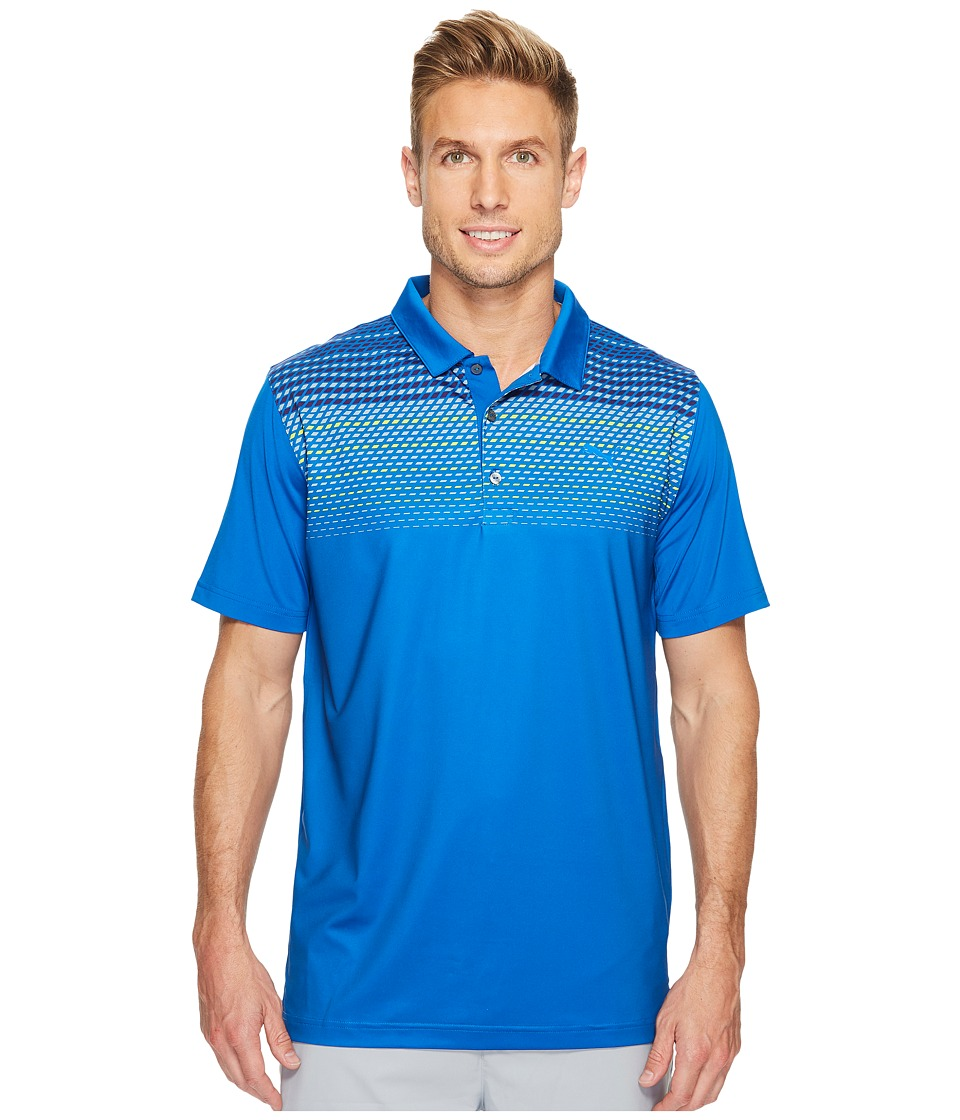 PUMA Golf - Sportstyle Road Map Polo (Lapis Blue) Men's Short Sleeve Knit