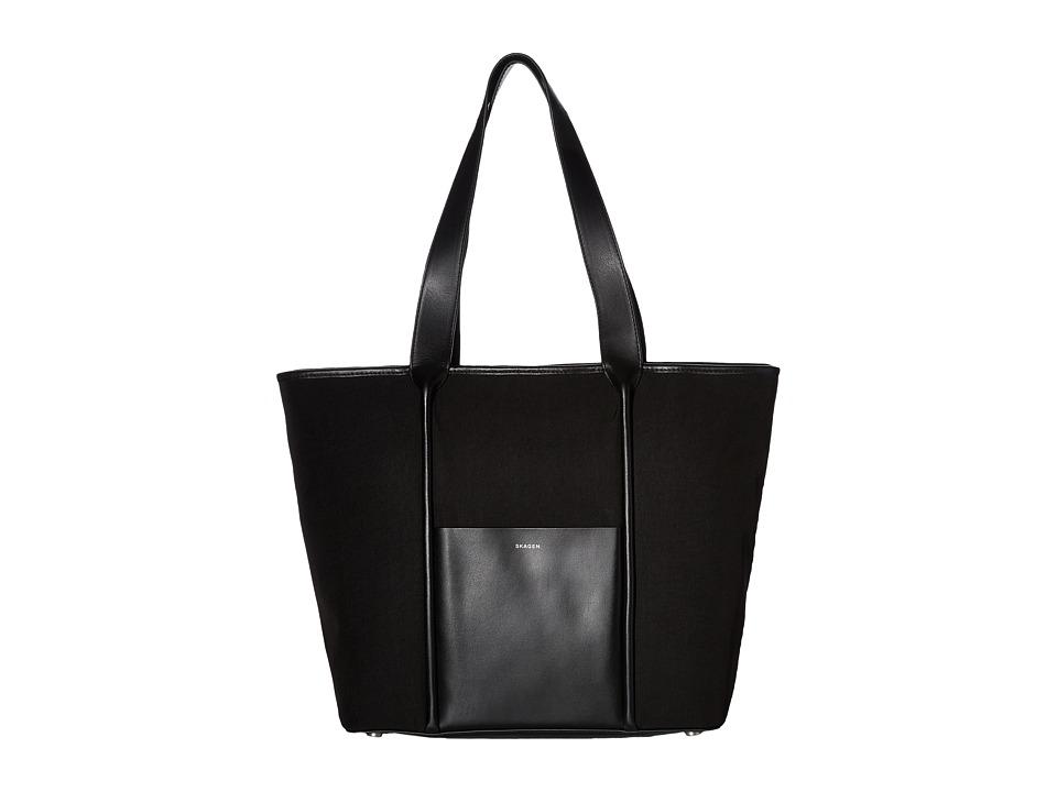 Skagen - Lisabet Large Tote (Black) Tote Handbags