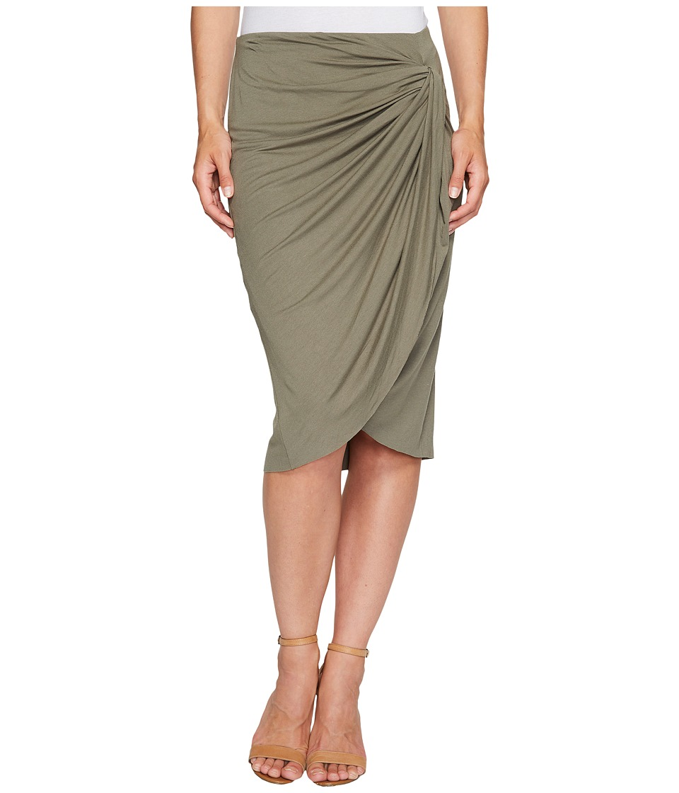 B Collection by Bobeau Reiley Side Gather Skirt (Olive) Women