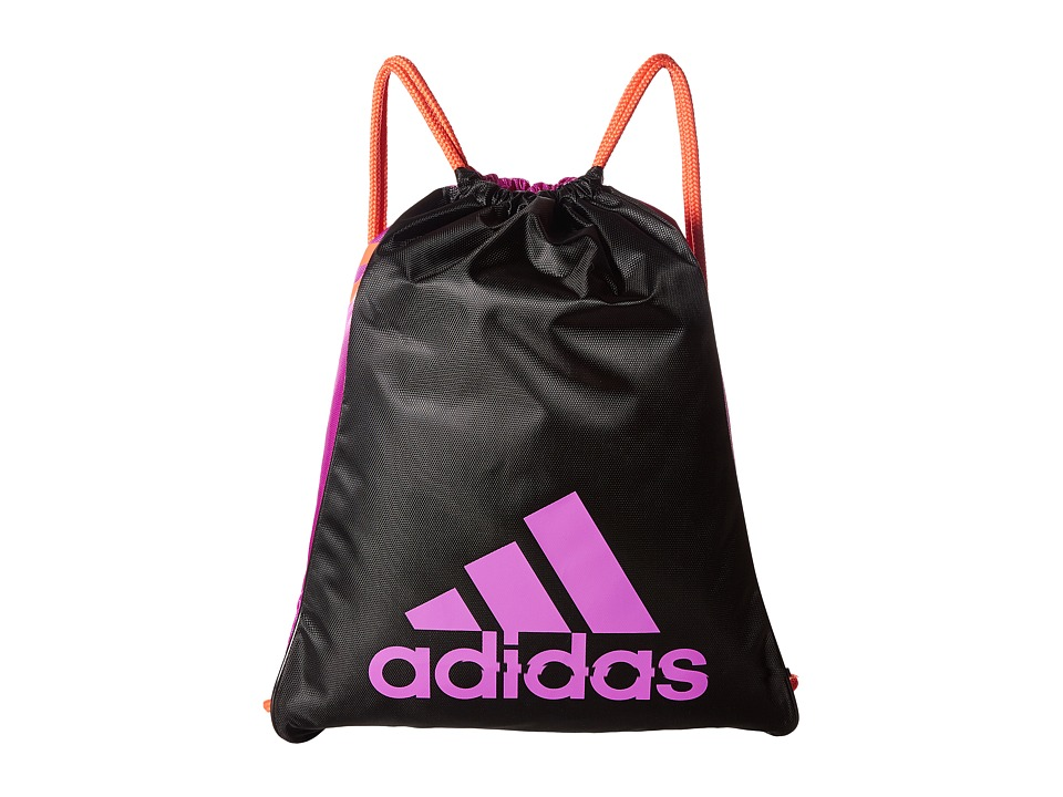 adidas - Burst Sackpack (Black/Shock Purple/Easy Coral) Bags