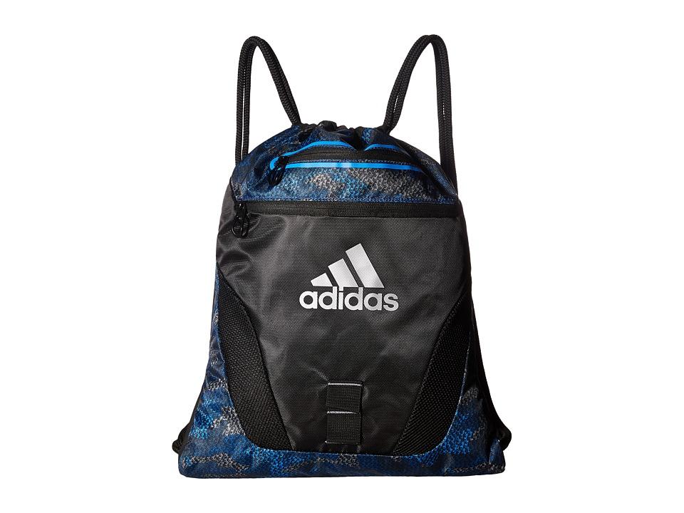 adidas - Rumble Sackpack (Prime Camo Bold Blue/Black) Bags