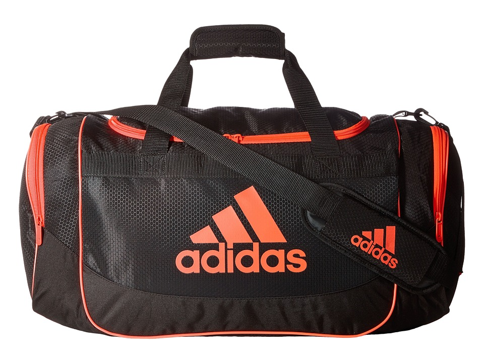 adidas - Defense Medium Duffel (Black/Infrared) Duffel Bags