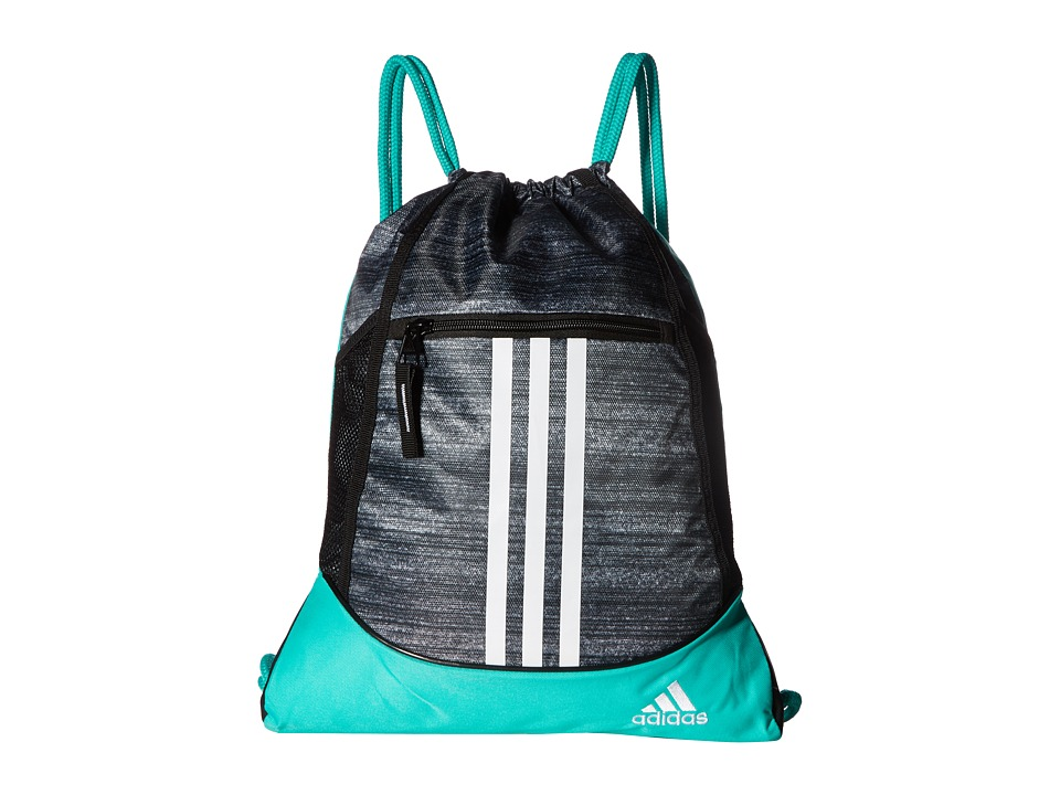 adidas - Alliance II Sackpack (Noise Black/Shock Mint/White/Black) Bags