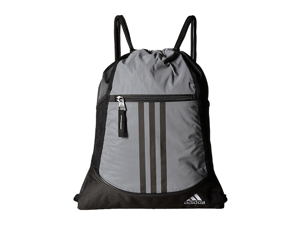 adidas - Alliance II Reflective Sackpack (Reflective Silver/Black) Bags