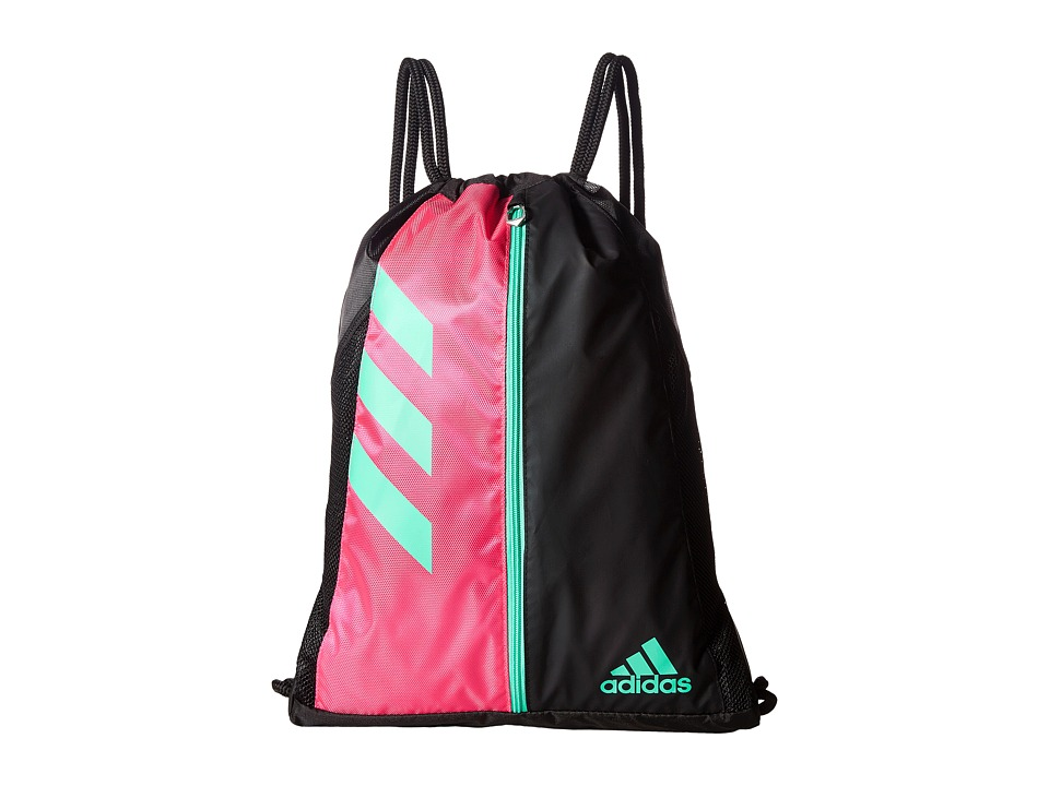 adidas - Team Issue Sackpack (Shock Pink/Black/Bright Green) Bags
