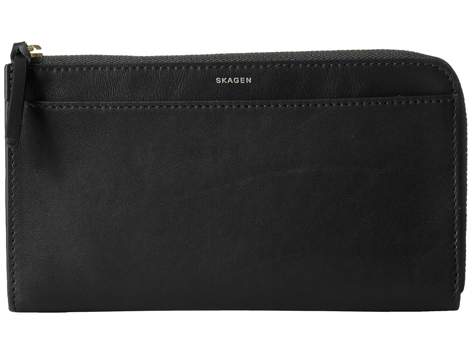 Skagen - Phone Wallet (Black) Wallet Handbags