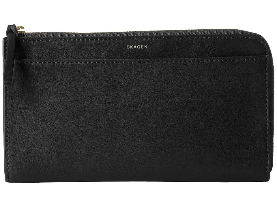 Skagen - Phone Wallet (Black) Wallet Handbags