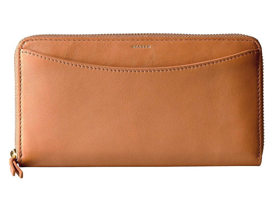 Skagen - Hanne Zip Wallet (Tan) Wallet Handbags