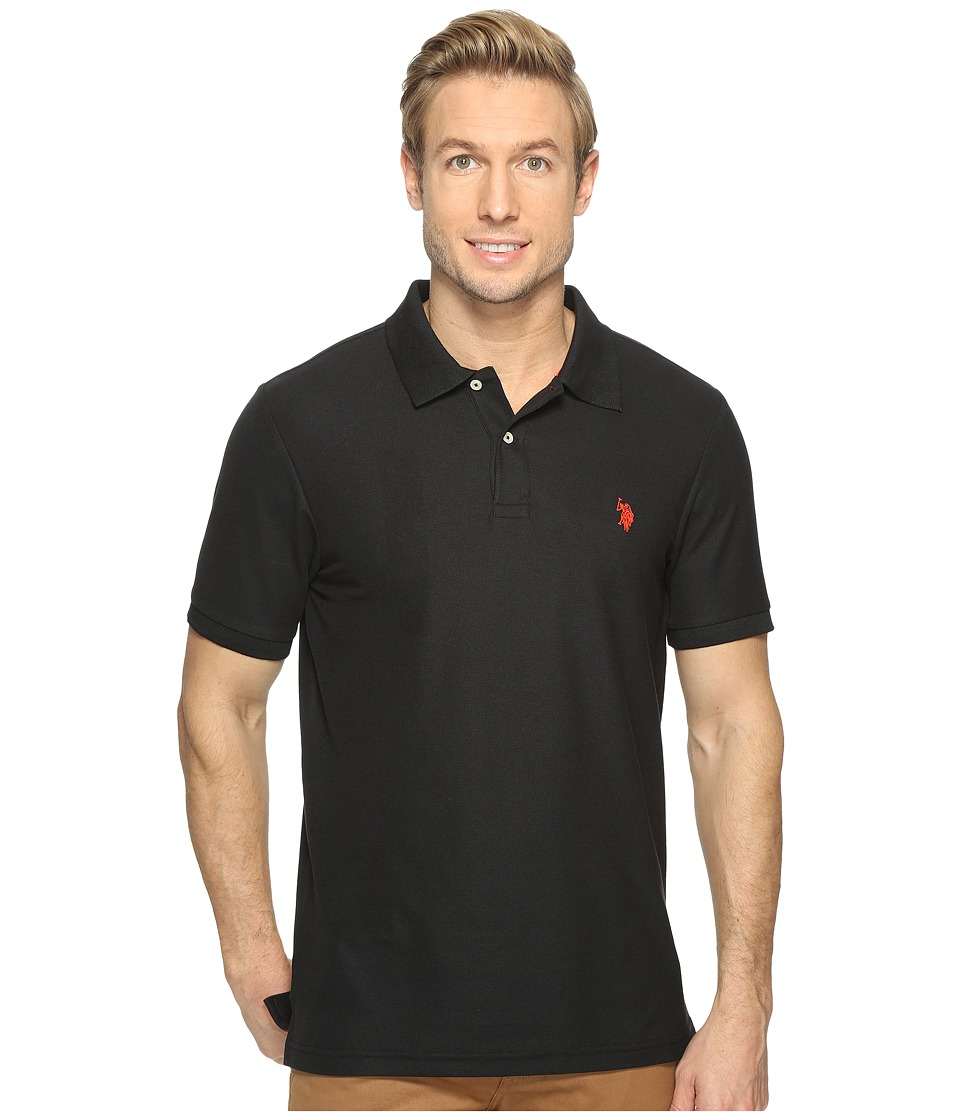 U.S. POLO ASSN. - Ultimate Pique Polo Shirt (Black) Men's Clothing
