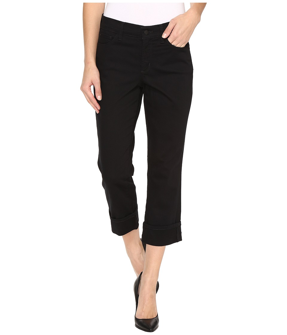 NYDJ - Dayla Wide Cuff Capris in Black (Black) Women's Capri