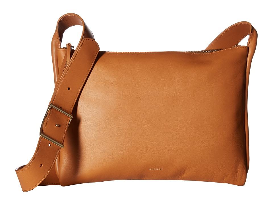Skagen - Anesa Slim Crossbody (Tan) Cross Body Handbags