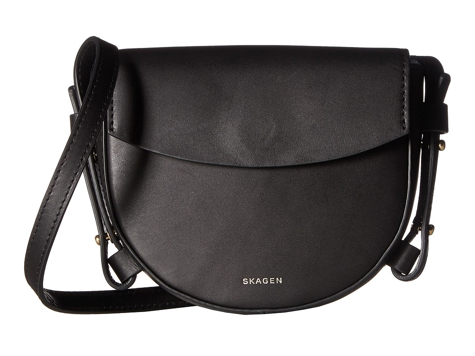 Skagen - Lobelle Mini Saddle Bag (Black) Bags