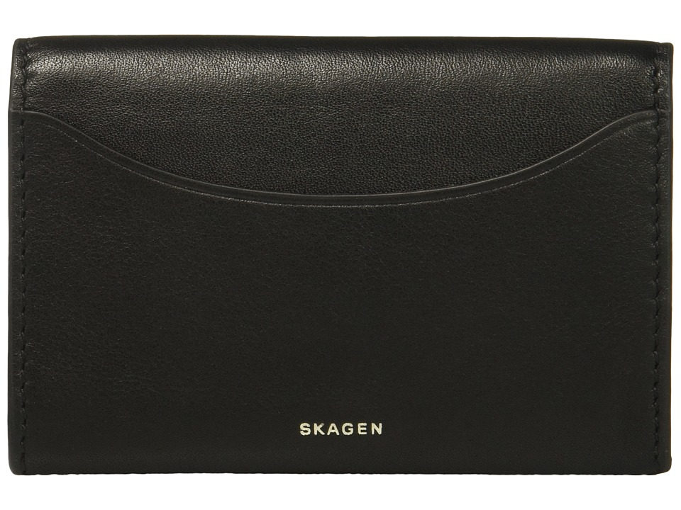 Skagen - Flap Card Case (Black 1) Credit card Wallet