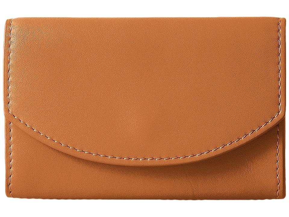 Skagen - Flap Card Case (Tan) Credit card Wallet