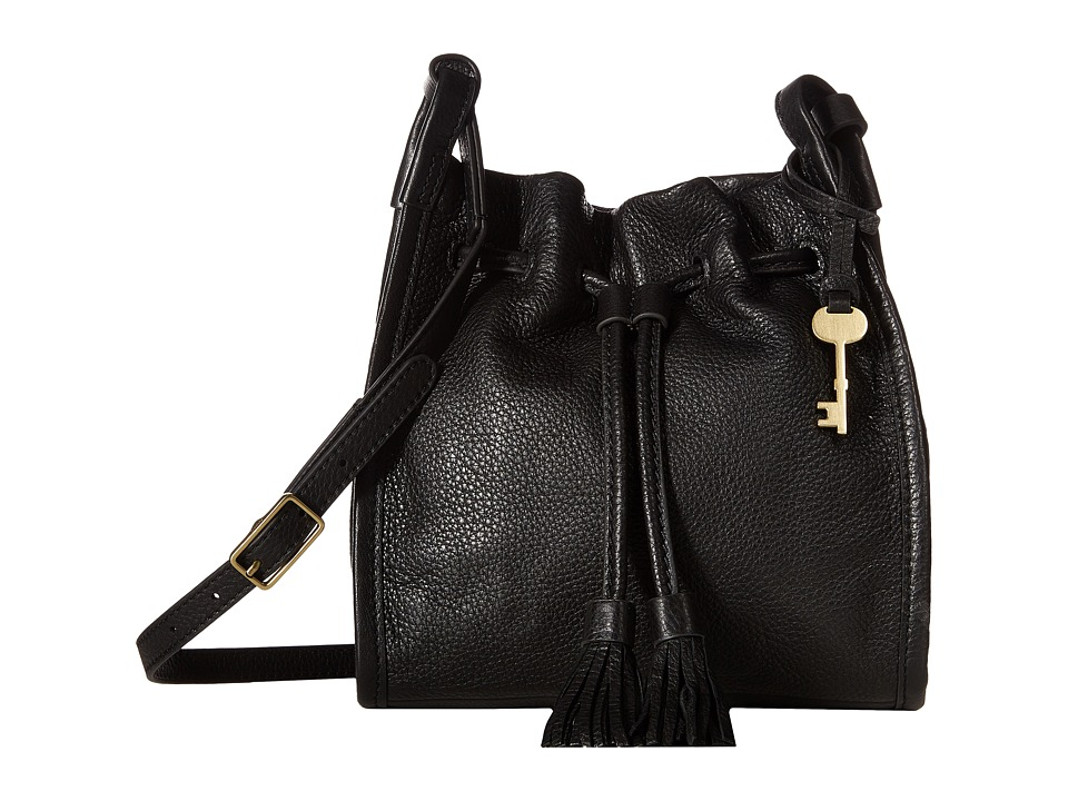 Fossil - Claire Small Drawstring (Black) Handbags