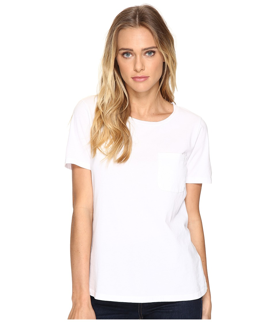 Three Dots - Ex Boyfriend Pocket Tee (White) Women's T Shirt