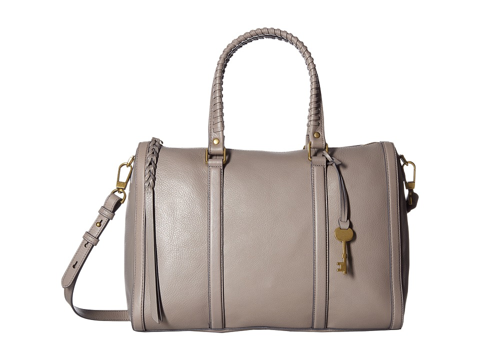 Fossil - Kendall Large Satchel (Grey) Satchel Handbags
