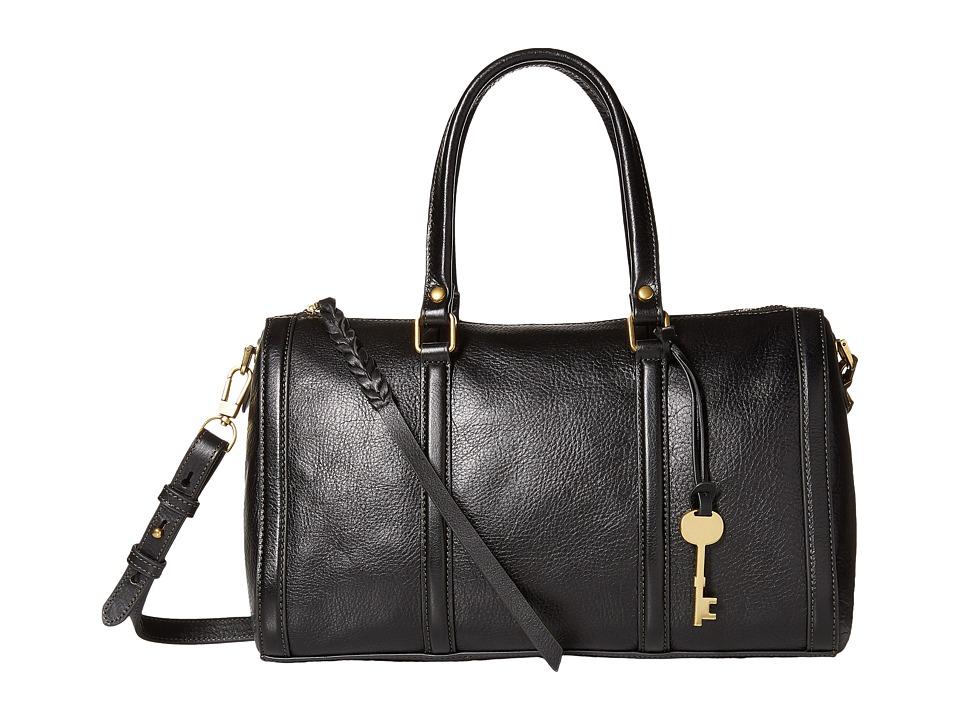 Fossil - Kendall Satchel (Black) Satchel Handbags