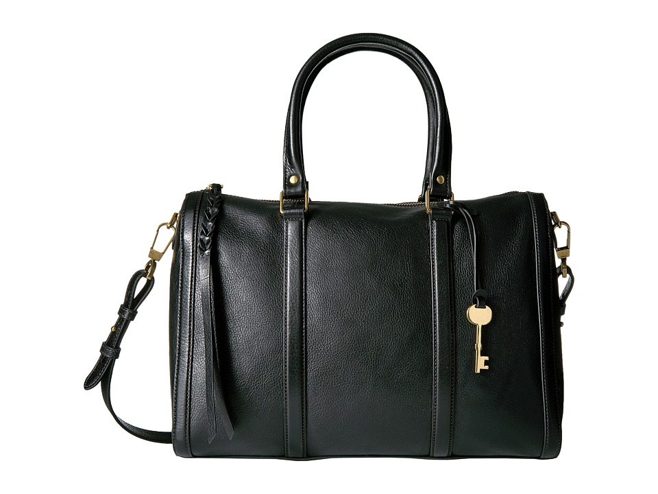 Fossil - Kendall Large Satchel (Black) Satchel Handbags