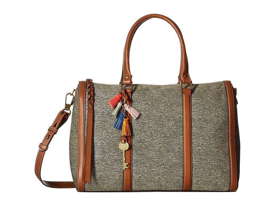 Fossil - Kendall Large Satchel (Neutral Multi) Satchel Handbags