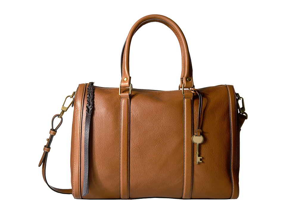 Fossil - Kendall Large Satchel (Saddle) Satchel Handbags