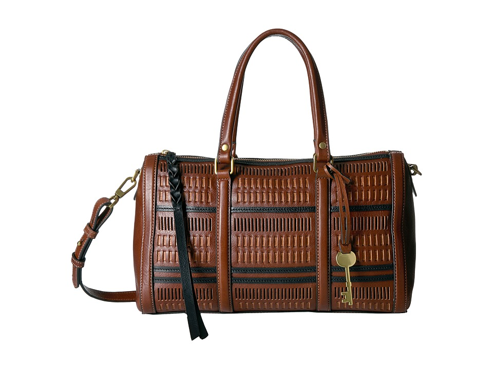 Fossil - Kendall Satchel (Multi Brown) Satchel Handbags