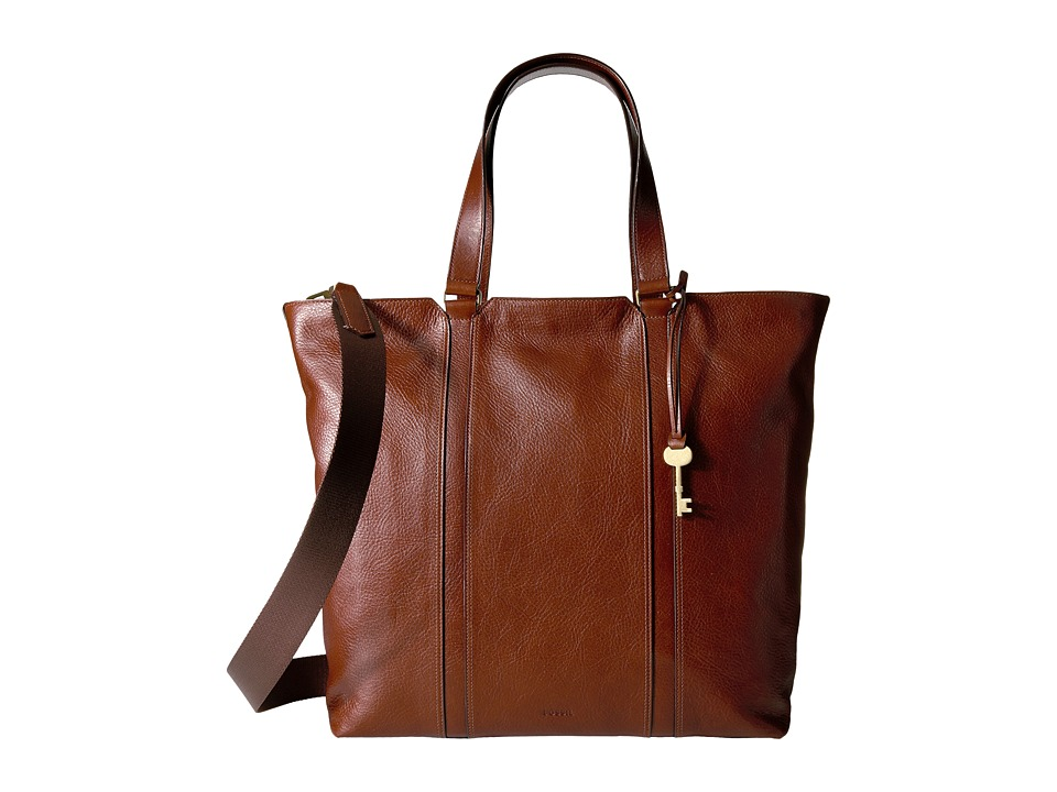 Fossil - Maya Work Tote (Brown) Tote Handbags