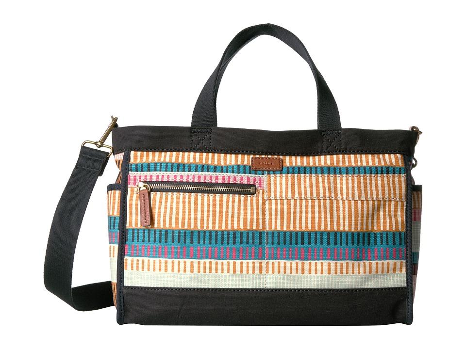 Fossil - Passport Tote (Colorful Stripes) Tote Handbags