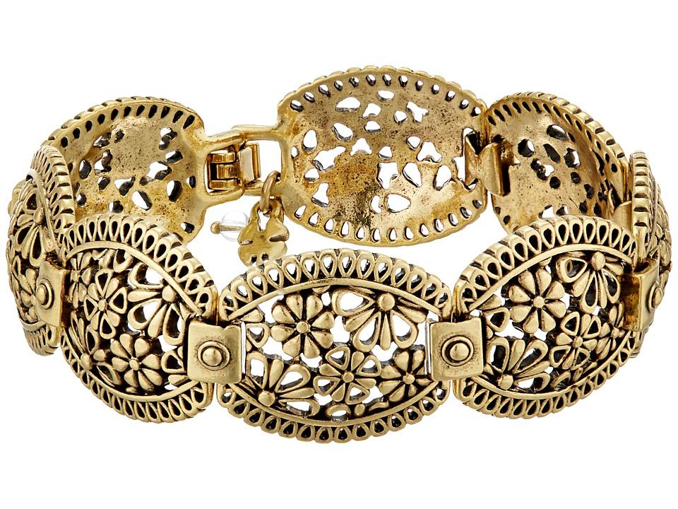 Lucky Brand - Lace Openwork Link Bracelet (Gold) Bracelet