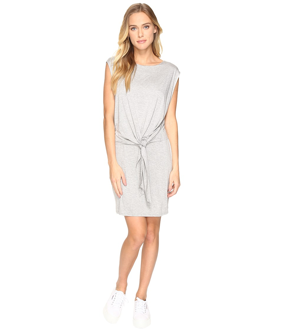 Three Dots Tie Front Twofer Dress (Granite) Women