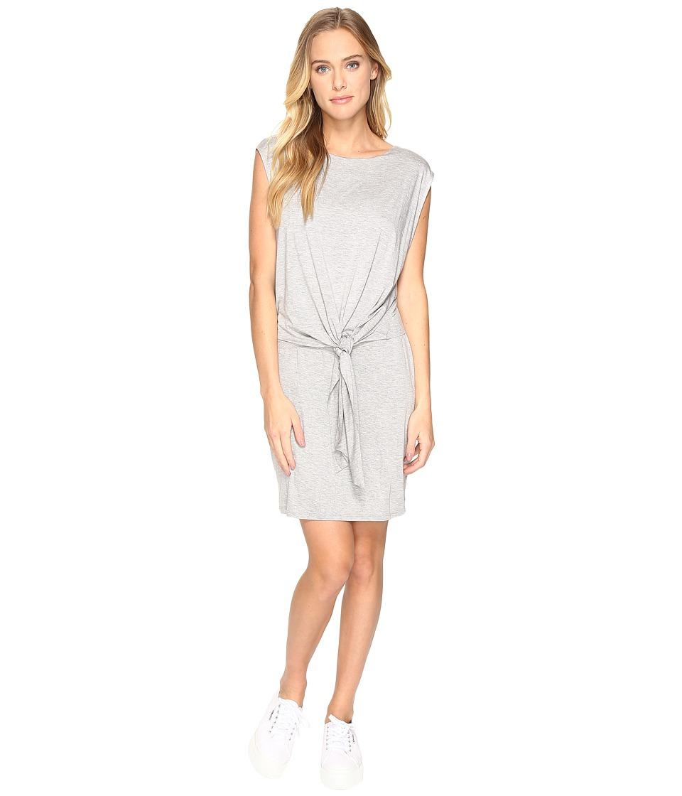 Three Dots - Tie Front Twofer Dress (Granite) Women's Dress