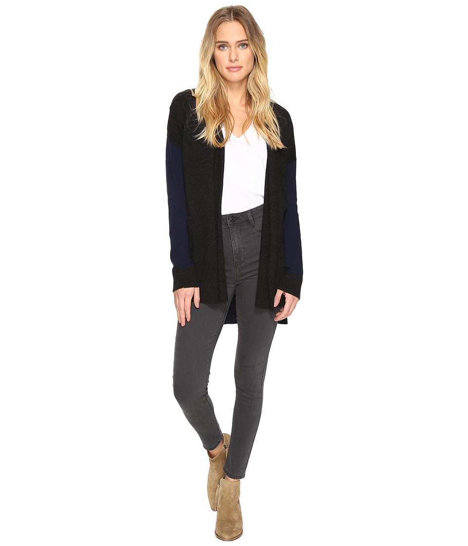 Three Dots - Mixed Cardigan (Black) Women's Sweater