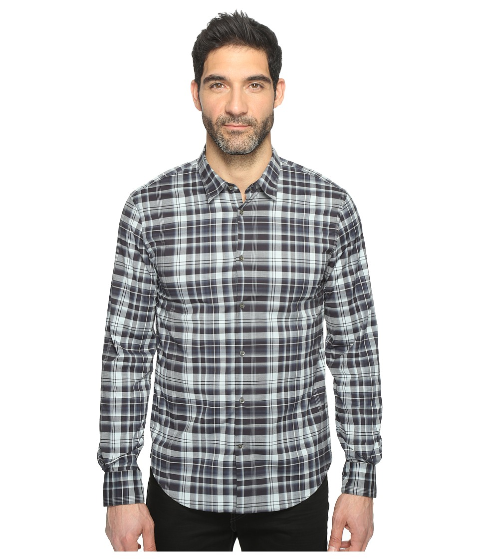 John Varvatos Star U.S.A. - Mayfield Slim Fit Sport Shirt with Contrast Turnback Placket W434T1L (Navy) Men's Clothing