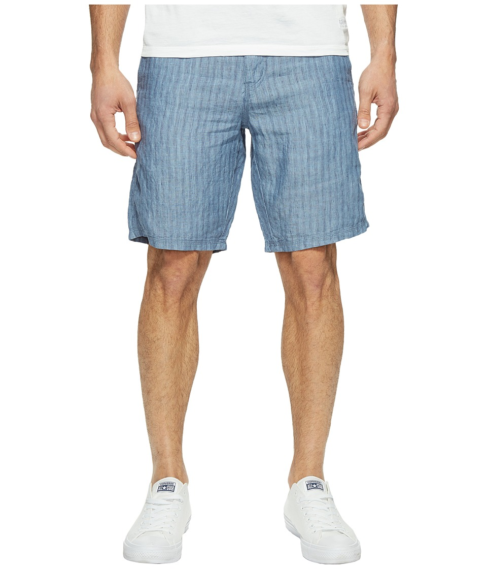 John Varvatos Star U.S.A. - Triple Needle Shorts with Patch and Flap Pockets S131T1B (Water Blue) Men's Shorts
