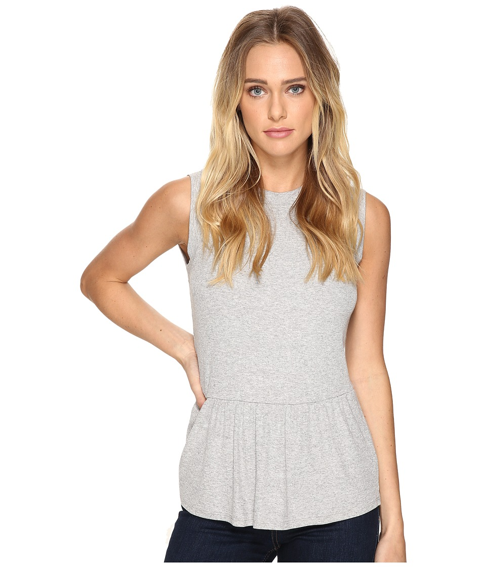 Three Dots - Sleeveless Peplum (Granite) Women's Clothing