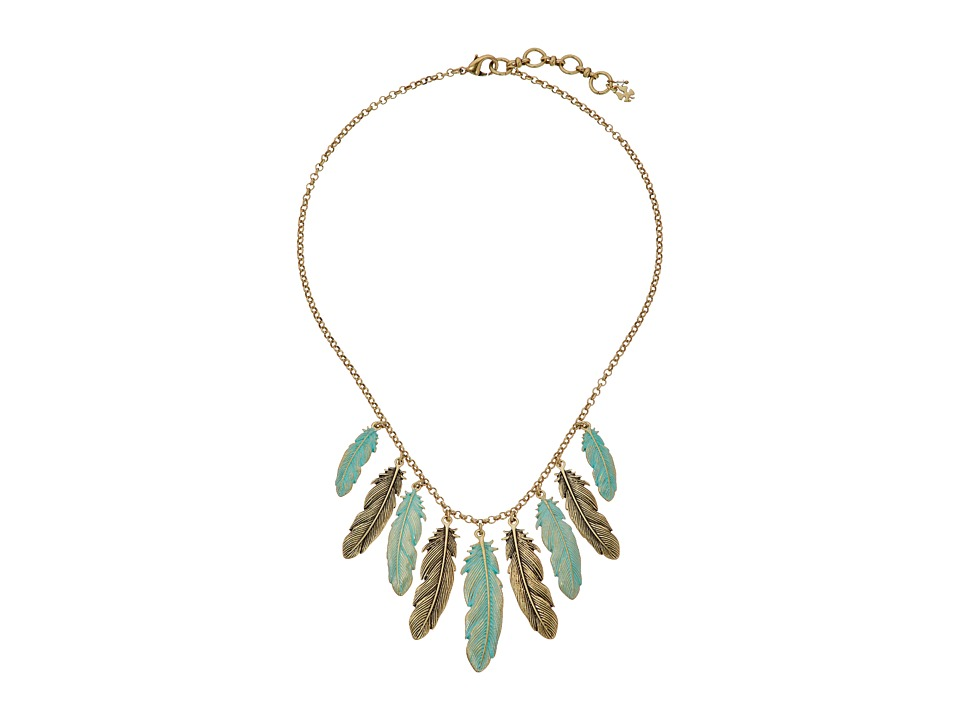 Lucky Brand - Patina Feather Collar Necklace (Gold) Necklace
