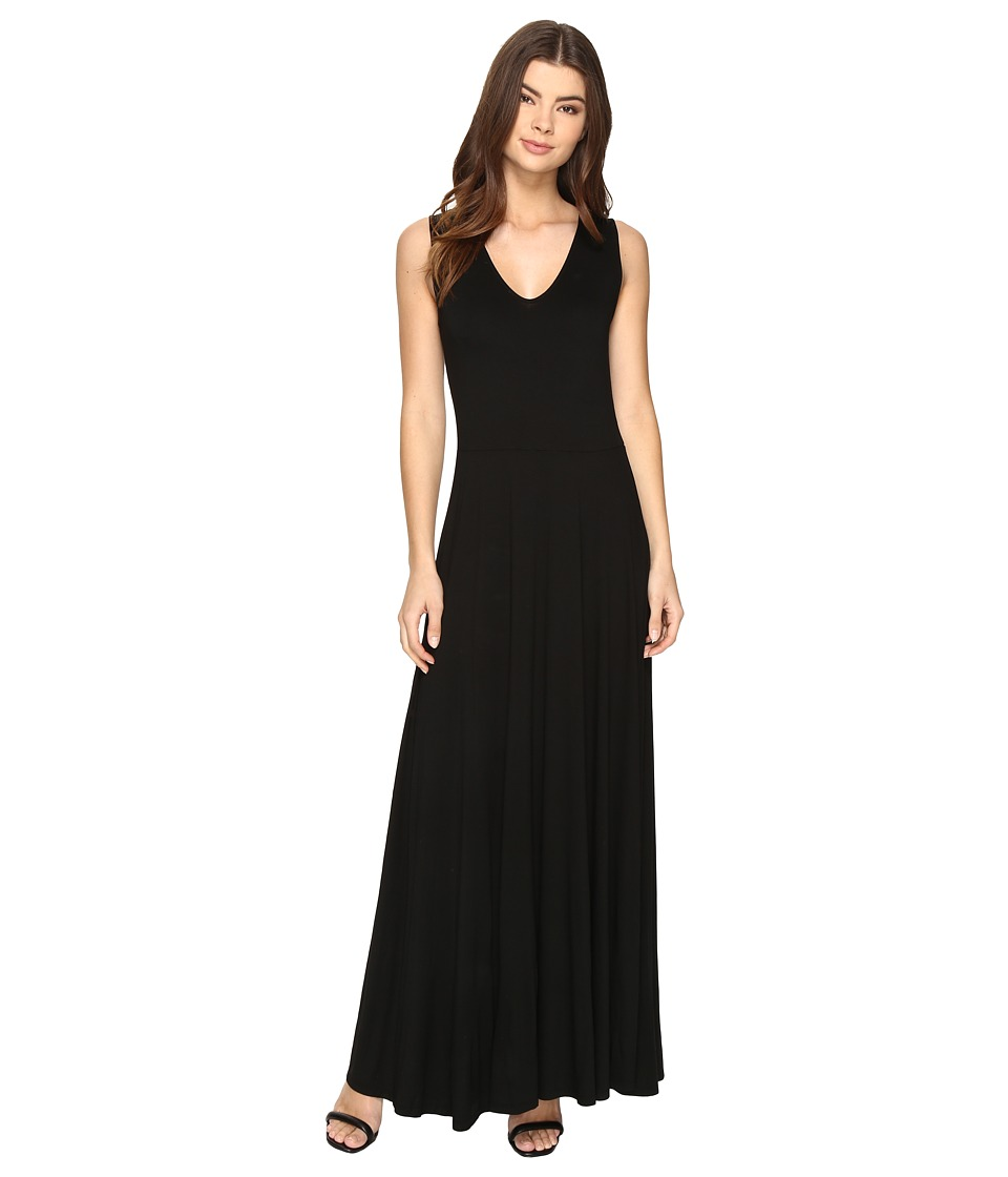Three Dots - Jersey Maxi (Black) Women's Dress