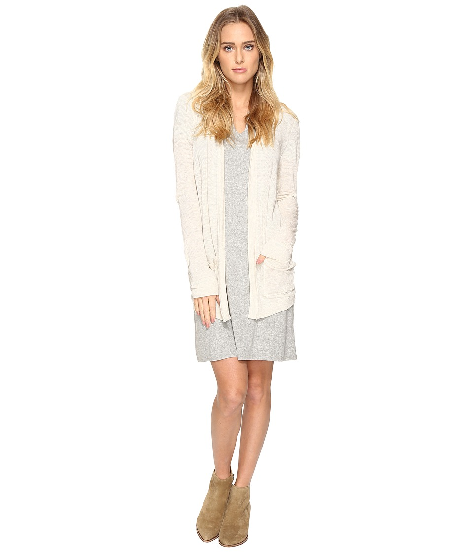 Three Dots - Easy Cardigan (Natural/Ivory) Women's Sweater