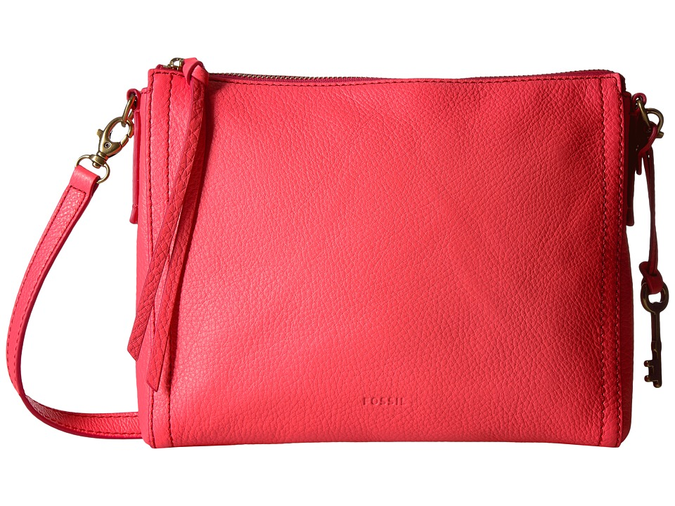 Fossil - Emma East/West Crossbody (Neon Coral) Cross Body Handbags