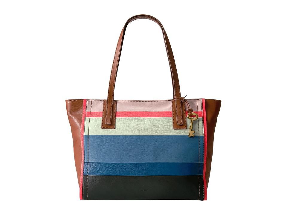 Fossil - Emma Tote (Bright Stripe) Tote Handbags