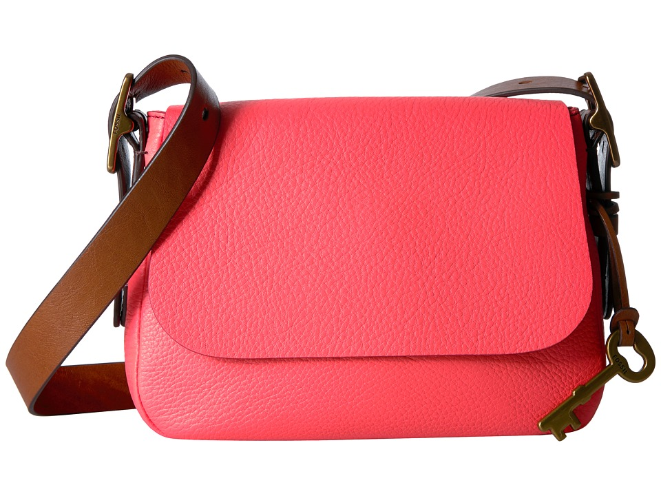 Fossil - Harper Small Crossbody (Neon Coral) Cross Body Handbags