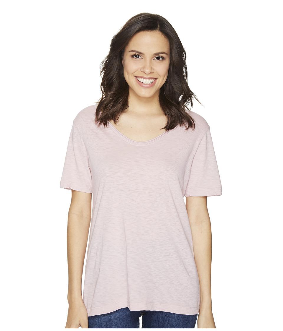 Michael Stars - Supima Cotton Slub Short Sleeve with Raw Edge (Rosette) Women's Clothing
