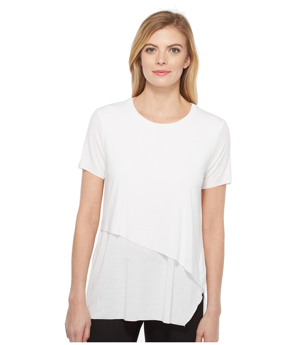 Michael Stars - Jersey Double Layer Tee (White) Women's T Shirt