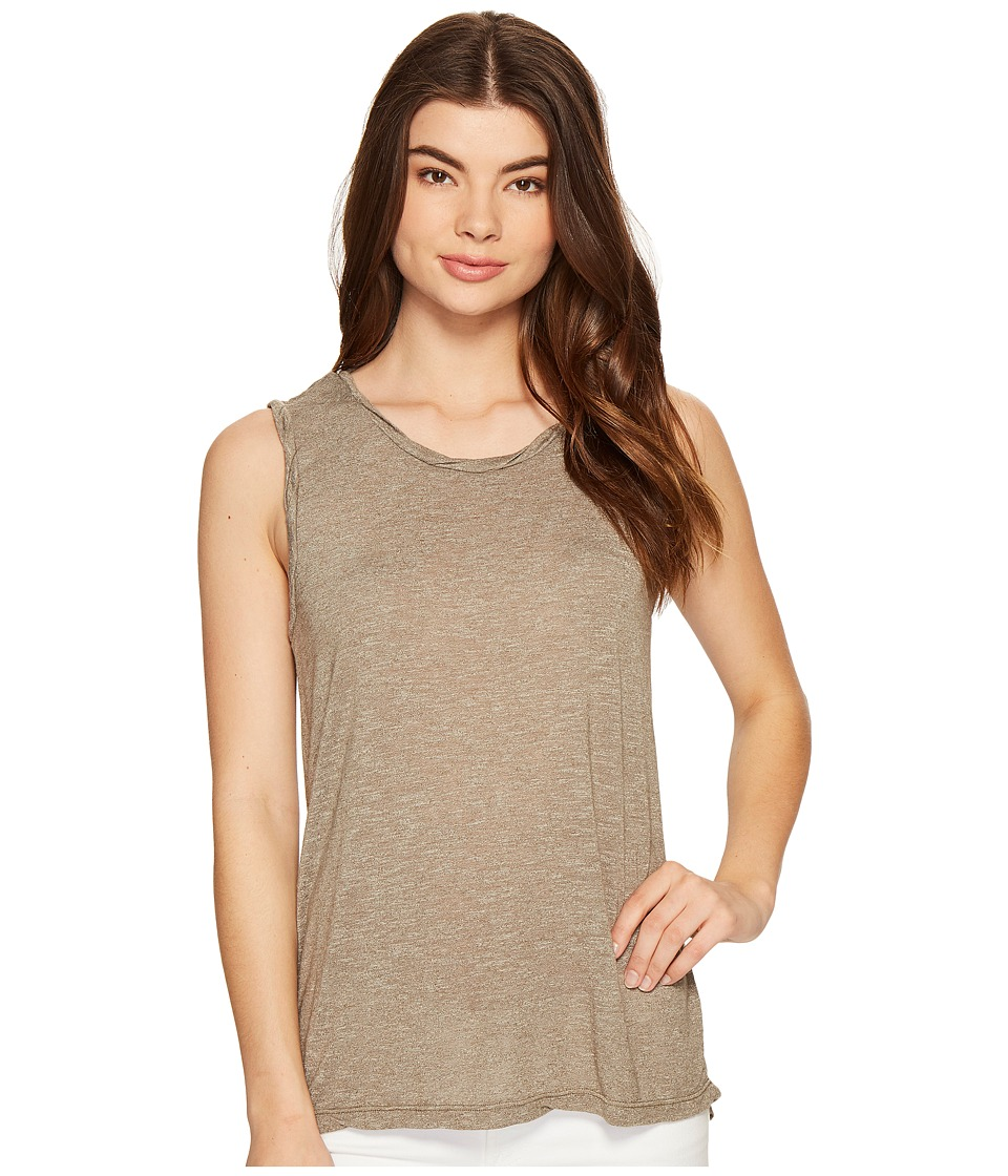 Michael Stars Brooklyn Jersey Muscle Tank Top (Olive Moss) Women