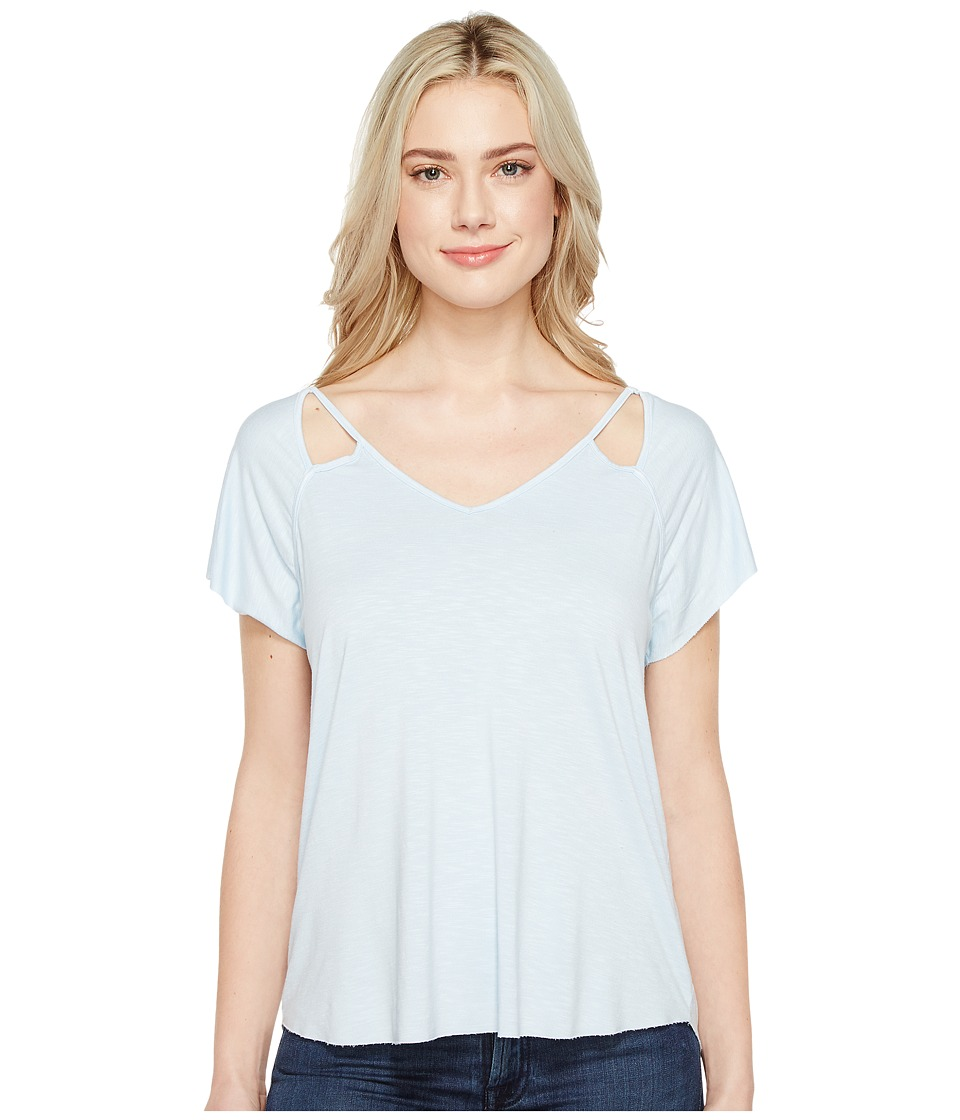 Michael Stars - Mavie Slub Jersey V-Neck Tee (Clearwater) Women's T Shirt