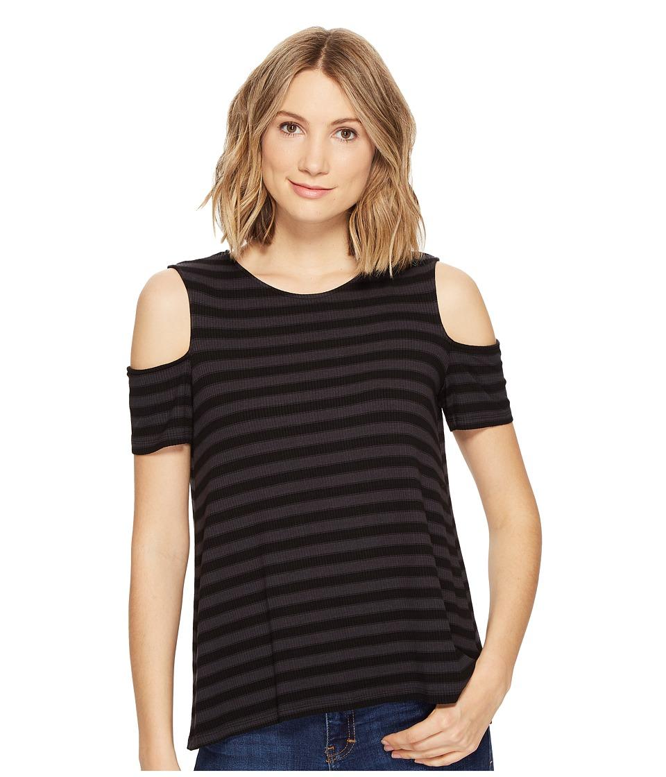 Michael Stars - Sophie Stripe Cold Shoulder Tee (Oxide) Women's T Shirt