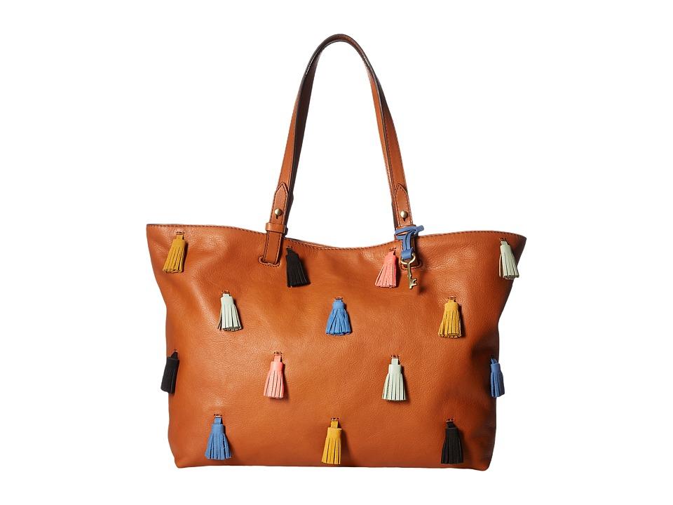 Fossil - Rachel Tote (Brown/Multi) Tote Handbags