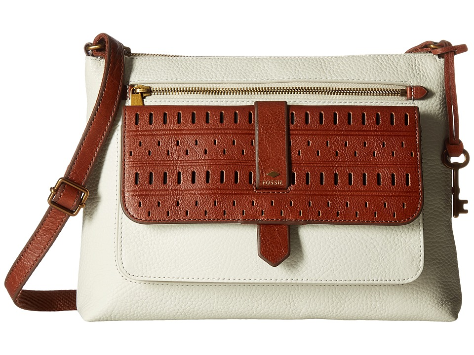 Fossil - Kinley Crossbody (Vanilla) Cross Body Handbags