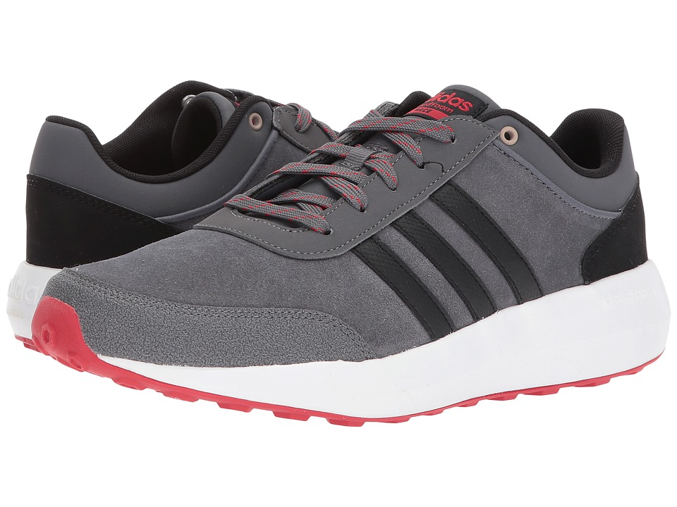 adidas - Cloudfoam Race (Grey Five/Core Black/Scarlet) Men's Shoes