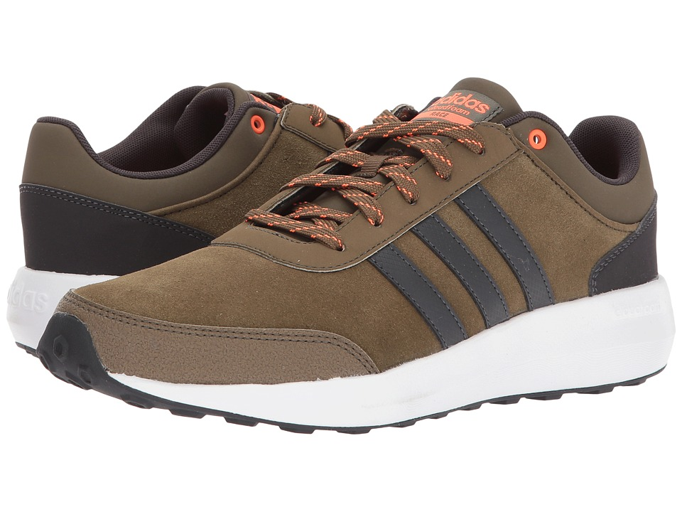 adidas - Cloudfoam Race (Trace Olive/Utility Black/Solar Orange) Men's Shoes